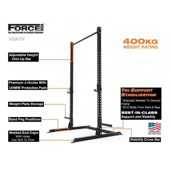 Επαγγελματικό Half Rack F-Hrack από την Force USA (Λ 622) - Skalidis ... fd87225f83e
