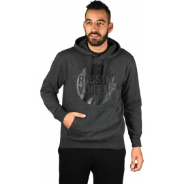 RUSSELL ATHLETIC Men's Pullover Hoody - Graphic Print A8-089-2-098 WM - WINTER CHARCOAL MARL