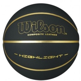 Μπάλα Μπάσκετ WILSON - HIGHLIGHT 295 BASKETBALL - BLACK/GOLD wtb068523
