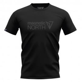 Ανδρική Κοντομάνικη Μπλούζα T-SHIRT MAGNETIC NORTH logo 19041 black