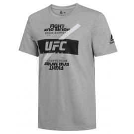 REEBOK Ανδρική Κοντομάνικη Μπλούζα T-SHIRT Reebok UFC Fg Logo DQ2006 GREY