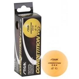 3 μπαλάκια πινγκ πονγκ Stiga Competition Orange 3 pack 5165-03