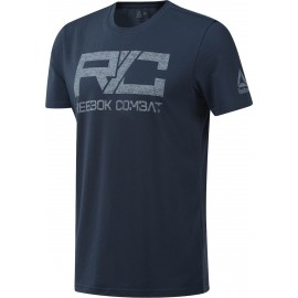 REEBOK Ανδρική Κοντομάνικη Μπλούζα COMBAT CORE TEE BLUHIL DU4986