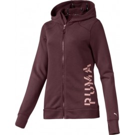 PUMA Γυναικείο ζακέτα 518333-02 - Logo Sweat Jacket Vineyard Wine Heather