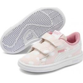 Παιδικά παπούτσια Puma Smash V2 Cloud V Inf 371194-01 εκρού συνεφάκια