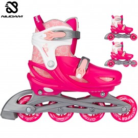 "Nijdam Inline Skates Ρυθμιζόμενα 3‑σε‑1 ""Floral Switch"" N22AA01"