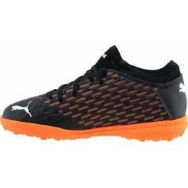 Puma Εφηβικό Παπούτσι Ποδοσφαίρου Ss20 Future 6.4 Tt Jr Footwear 106209-01 Black-Orange