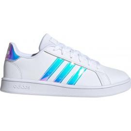 Εφηβικό Παπούτσι Adidas Grand Court K - FW1274 Λευκό Ιριδίζον
