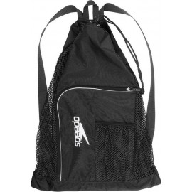 SPEEDO Τσάντα πλάτης κολύμβησης Deluxe Ventilator Mesh Bag 11234-3503U BLACK/WHITE