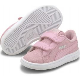 Puma Smash V2 Glitz Βρεφικά Παπούτσια 367380-19 Pale Pink-Pale Pink