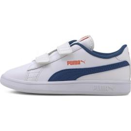Παιδικό Παπούτσι Μόδας Fw20 Puma Smash Leather V2 L V PS 365173-16 white/blue