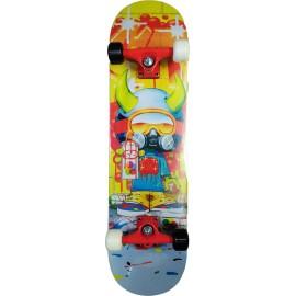 Skateboard Τροχοσανίδα στενή Νο 4 Αθλοπαιδια 5135 Graffiti