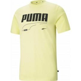 Puma Rebel Tee Ανδρικό T-Shirt 585738-40 Yellow Pear