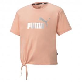 ΜΠΛΟΥΖΑ ΠΑΙΔΙΚΗ PUMA JR ESS+ Logo Silhouette Tee G (587044-26)apricot blush