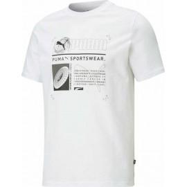 Ανδρικό T–Shirt PUMA Reflective Tee 587772-02 Λευκό