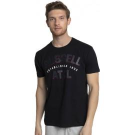 Ανδρική κοντομάνικη μπλούζα RUSSELL ATHLETIC ATHL-S/S CREWNECK TEE SHIRT A1-034-1-099 ΜΑΥΡΟ