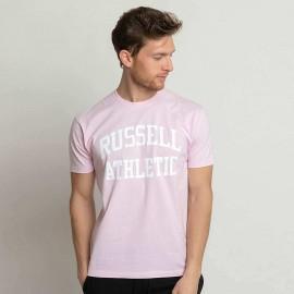 Ανδρική κοντομάνικη μπλούζα T-SHIRTS   TOP RUSSELL ATHLETIC AL-S/S CREWNECK TEE SHIRT RUSSELL ATHLETIC A1-083-1-651 ΡΟΖ