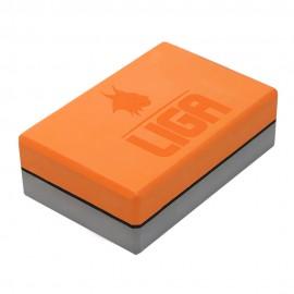 Τουβλάκι Yoga δίχρωμο (Two-color Yoga block) (γκρι/πορτοκαλί) LIGASPORT*