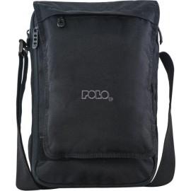 Τσαντάκι ώμου Polo Book 9-07-118-02 Χιαστί σε Μαύρο χρώμα