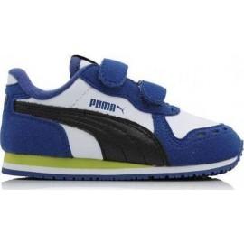 Παιδικό αθλητικό παπούτσι PUMA Cabana Racer SL V μπλε/λευκό (351980 43)