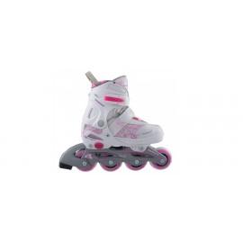 Inline Quads Roller Skate Semisoft Boot ρυθμιζόμενα girl (52QX 0G)