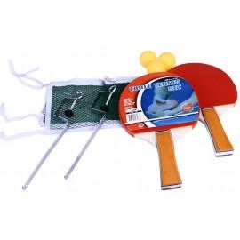 Σετ 2 Ρακέτες Ping Pong, 3 Μπαλάκια και Δίχτυ (61TW)