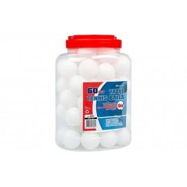 Μπαλάκια Ping Pong Λευκά 60 τεμάχια (61PK)